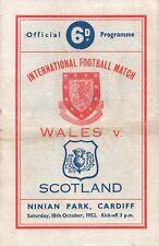 Oct 52 Wales v Scotland