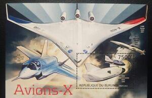 O) 2012 BURUNDI, X PLANE - AIRCRAFT LINE NASA , AVIONS X -X48B BOEING - X38 SCAL