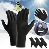Men's Winter Warm Gloves Black Touch Screen Windproof Waterproof Outdoor Sport