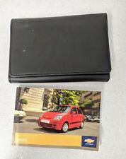 GENUINE CHEVROLET MATIZ HANDBOOK OWNERS MANUAL WALLET 2005-2010 O-105