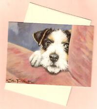 Wire Fox Terrier Peeping Tom Notecards Note Card by John Trickett Pack of 5 b