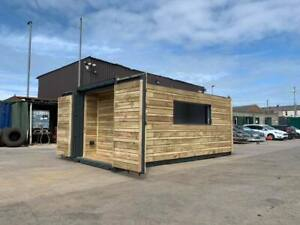 20ft x 8ft Clad Shipping Container T.V. Bar