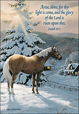 Leanin' Tree Christmas Card  - Horse & Farmhouse Theme - ID#410
