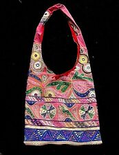 Beautiful Antique Banjara Embroidered & Mirrored Recycled Tapestry Shoulder Bag