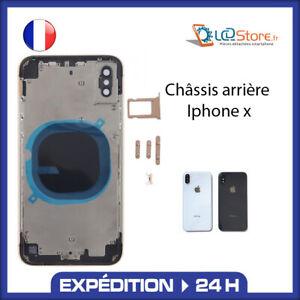 Châssis vitre arrière IPhone X Noir Blanc (Logo, ce ....)