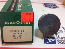 -Clarostat series- 58 Control 100 ohm  58-100  Potentiometer