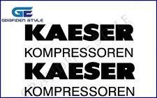 2 Stück KAESER KOMPRESSOREN- Kompressor Aufkleber - Sticker - Decal !