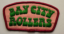 BAY CITY ROLLERS Original Vintage 1970's Embroidered Sew On Patch  MR135