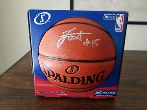 Nikola Jokic Autographed Basketball Fanatics Authentic Rare Silver MVP🏆Nuggets