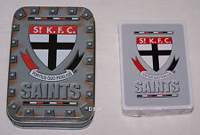 St Kilda Saints AFL Team Playing Cards & Tin Set New