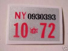 1972 new york n y registration sticker & other years