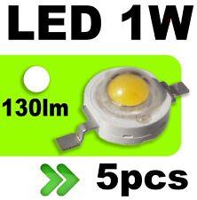 539/5# LED 1W Blanc pur 130lm --- 5pcs