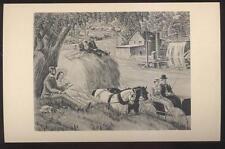 1940s Postcard Hyde Park Ny Post Office Mural #13 Isreal Carter Sharp Tool Shop