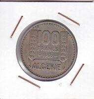 Algeria ( French Occupation ) : 100 Francs 1950 (a) VF