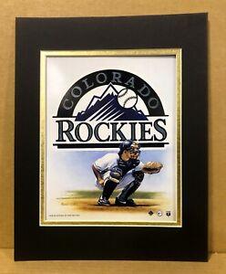 Colorado Rockies 1995 Baseball 11x14 MATTED Kelly Russell Print