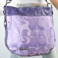 NWT Coach Signature Zoe Shoulder Hand Bag Crossbody F14710 Purple Lilac New RARE