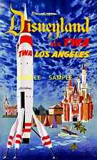 "TWA  Airlines ( DISNEYLAND ) 11"" x 17"" Collector's Travel Poster Print - B2G1F"