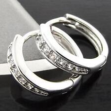 Cubic Zirconia Huggie Fashion Earrings