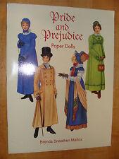 Pride and Prejudice Jane Austen based Paper Dolls 1997 UNCUT NEW Brenda Mattox
