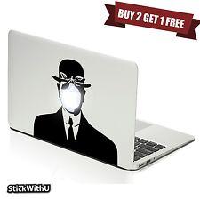 Macbook Air Pro Vinyl Skin Sticker Decal Son Of Man Rene Magritt Face Art m700