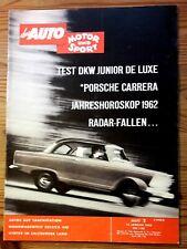 Auto Motor Sport 02/62 Test DKW Junior de Luxe, Porsche Carrera 2, Suleica 430