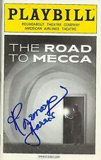 Rosemary Harris signed Road to Mecca Playbill