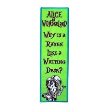 "Bookmark Sew-On Patch Lewis Carroll ""Alice in Wonderland"" Mad Hatter Quote Craft"