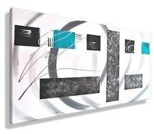 MK1 art. immagine tela astratto QUADRO ARTE PITTURA ACRILICO turchese grigio XL