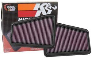 K&N 33-5067+33-5068 Hi-Flow Air Intake Drop in Filter for 2018 Kia Stinger 3.3L