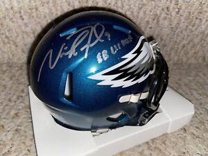 Nick Foles Autographed Philadelphia Eagles Mini Helmet w/ insc ! Fanatics