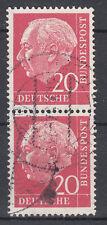 BRD 1954 Mi. Nr. 185 senkrechtes Paar gestempelt (18331)