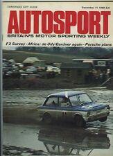 Autosport 11th décembre 1969 * F2 Seasonal Survey *