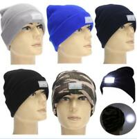 Running Hat 5 LED Lighted Cap Hat Winter Warm Beanie Hunting Camping Running New