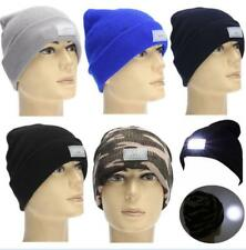 5-LED Light Cap Knit Beanie Hat with Batteries Outdoor Hunting Camping Fishing