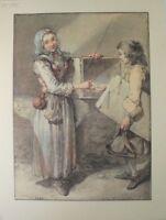 Unbekannter Künstler Kunstdruck G-1664