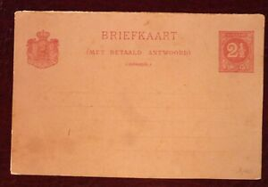 Suriname Old & Unused Postal Entire two and an half cents