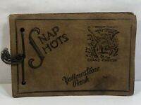 Vintage Yellowstone Park & The Grand Canyon Leather Snap Shot Photo Album 1940's