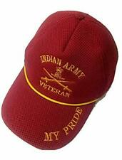 Veterans My Pride Daisy Indian Armed Forces Logos caps Indian Army Red