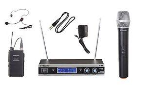 GTD Audio VHF Handheld  Headset Lavalier Mic Wireless Microphone System V-28HL