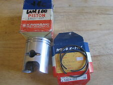 KAWASAKI NOS PISTON & RINGS 2nd O/S +1.00mm KH100 KC100 G3 G4 G5 KE100 KM100 G7