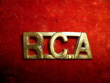 The Royal Canadian Artillery Brass Shoulder Title - Canada WW2