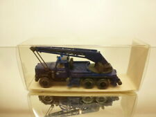 WIKING 6940024 MAGIRUS CRANE TRUCK THW KW 15 - BLUE 1:87 - GOOD CONDITION IN BOX