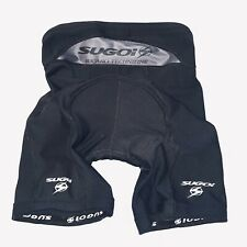 Sugoi Womens Medium Black Drawstring Padded Cycling Bicycle Shorts Technifine