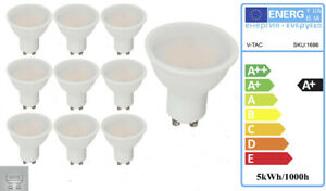 5W GU10 A+ Energy Saving LED Light 3000K Non-Dimmable 110 Beam Angle 10 Pack