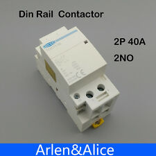 2P 40A 220V/230V 400V~ 50/60HZ Din rail Household ac contactor 2NO