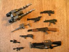 Lot of 10 VINTAGE ACTION FIGURE ACCESSORIES GI JOE hand GUNS RIFLES WEAPONS TOY