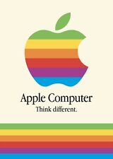Steve Jobs Poster Apple Mac iPhone Logo Vintage Think Different Poster.