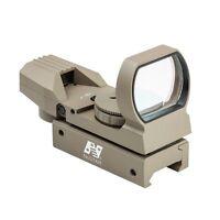 NcStar D4RGT Red & Green Four Reticle Reflex Optic Dot Sight FDE Tan