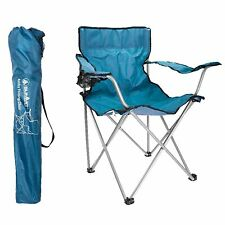 Ashby Folding Chair Blue - Summit Camping and Outdoor Sleeping Relaxing Gear