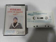 ADAMO CANTA EN ESPAÑOL VOL 1 - CINTA TAPE CASSETTE 1980 SPAIN ED AMALGAMA